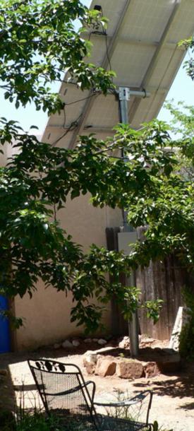 My solar array rising above my pear tree