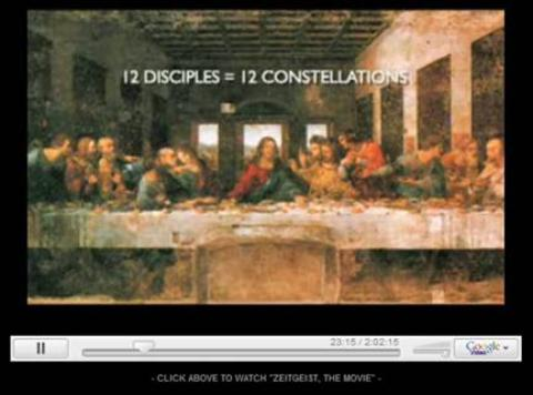 The 12 disciples mimic the 12 constellations