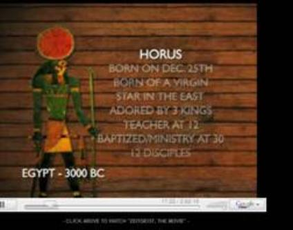 Egypt's Horus has the same characteristics as Jesus