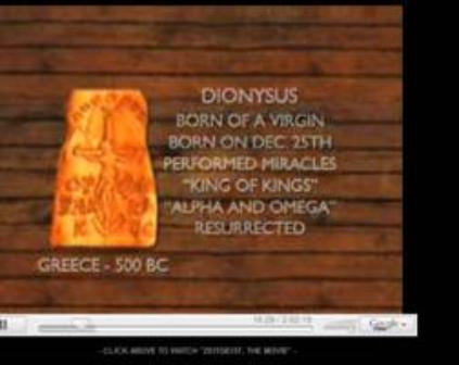 Dionysus has the same characteristics as Jesus