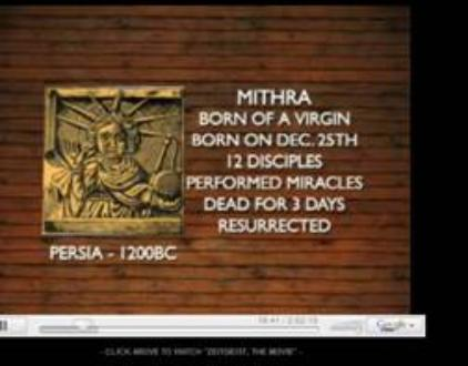 Mithra's characteristics are the same as those of Jesus