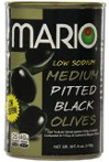 Mario Low Sodium Black Olives